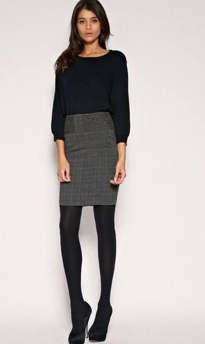 women wear a pencil skirt & pantyhose, best 1 skills 3
