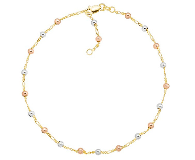Gold Beaded Ankle Anklet Bracelet