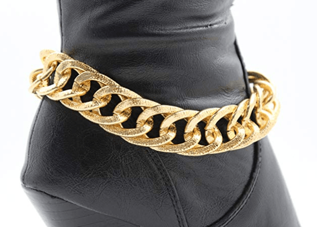 Double Link Anklet Shoe Charm