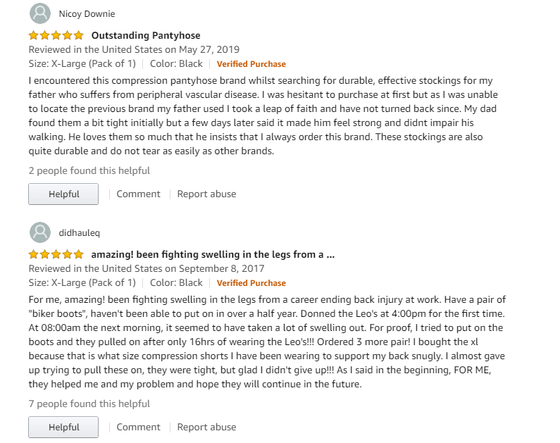 Best 3 compression pantyhose for men reviews 5