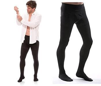 Compression pantyhose for men
