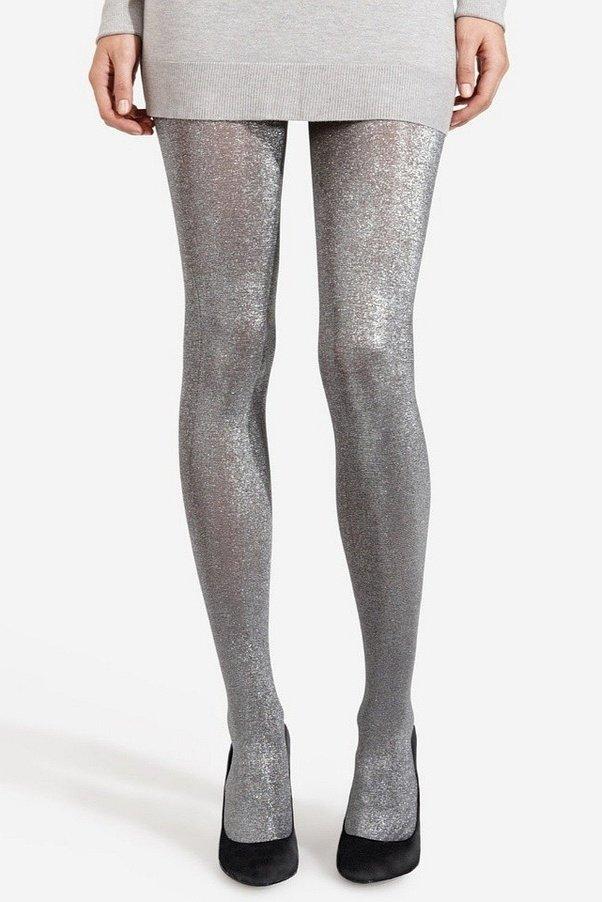 Would you wear metallic pantyhose