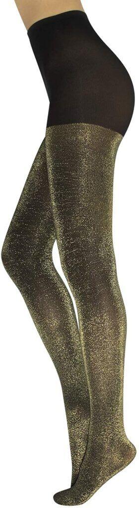 metallic pantyhose