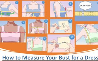 How to measure your bust for a dress?
